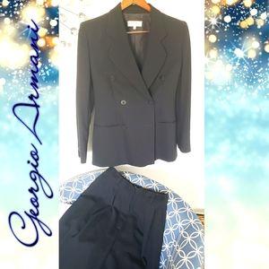 Suit by Giorgio Armani 8 women's black blazer